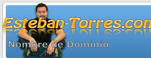 Mi nombre Esteban Torres como nombre de dominio
